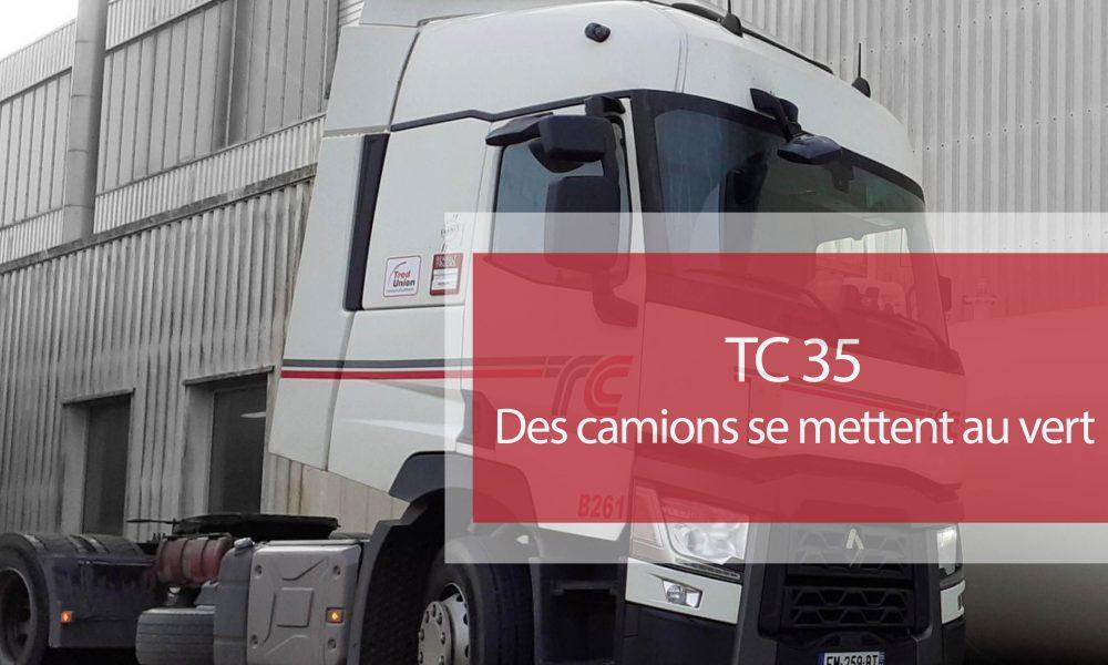 Visuel actualité Chez TC 35, des camions se mettent au vert !